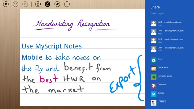 MyScript Notes Mobile screen shot 7