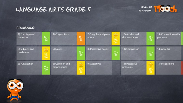 Language Arts Grade 5 screen shot 1