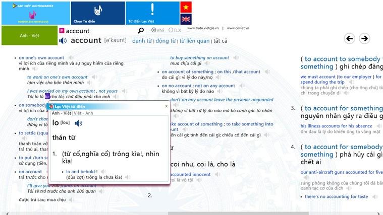 Từ Điển Anh-Việt ảnh chụp màn hình 1