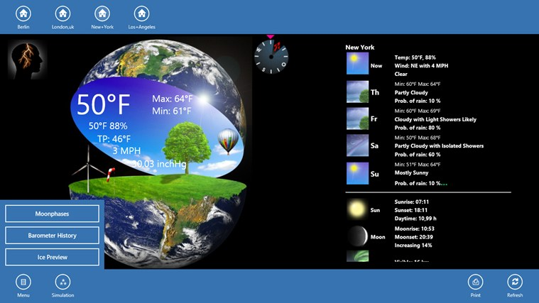 Weather Globe screen shot 1