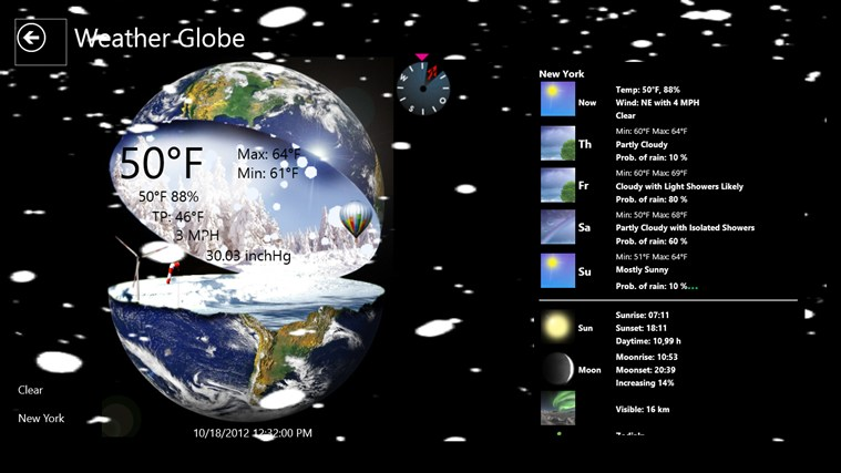 Weather Globe screen shot 5