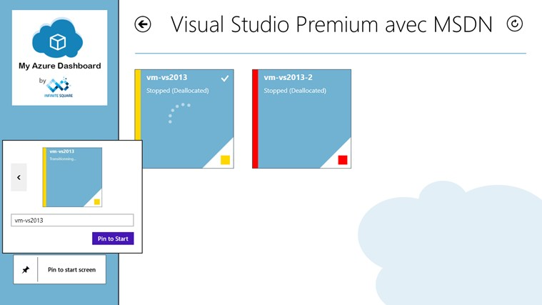 My Azure Dashboard screen shot 3