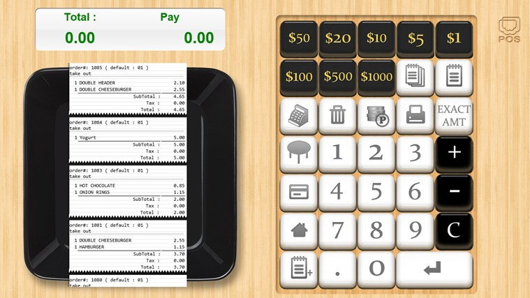 Mobile POS screen shot 1
