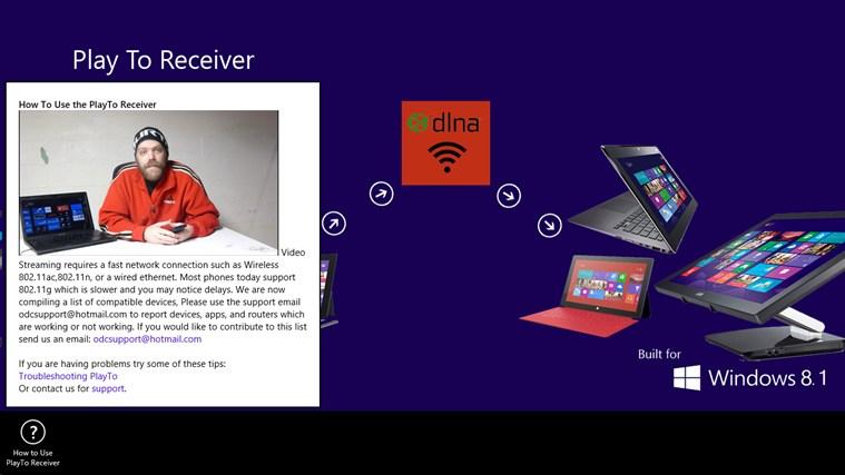 PlayTo Receiver screen shot 1