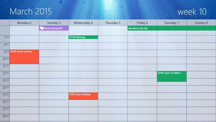 One Calendar screen shot 5
