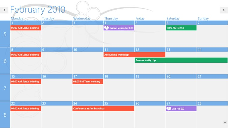 One Calendar screen shot 7
