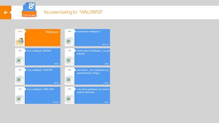 8FilesInABox - Dropbox client screen shot 1