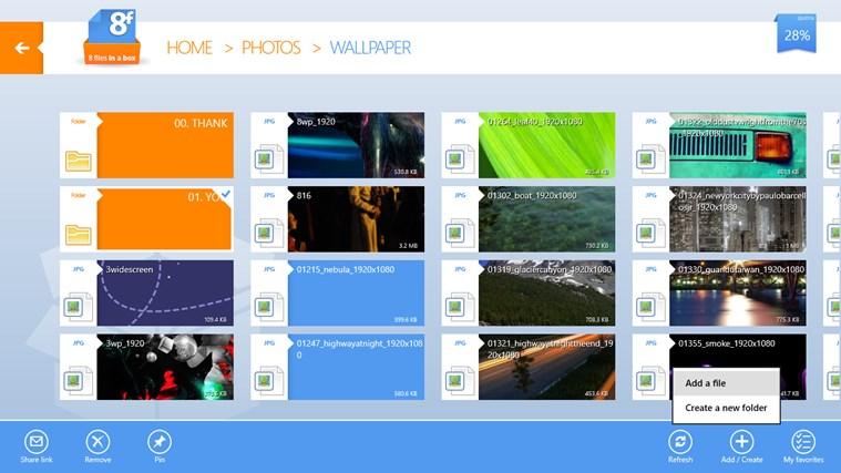 8FilesInABox - Dropbox client screen shot 3