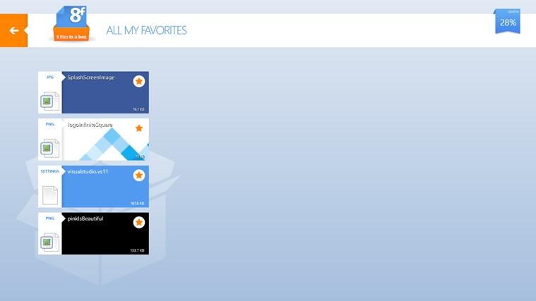 8FilesInABox - Dropbox client screen shot 5