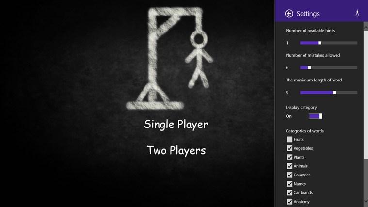 Hangman RT screen shot 1