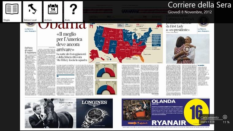 Corriere Della Sera - Digital Edition cattura di schermata 5