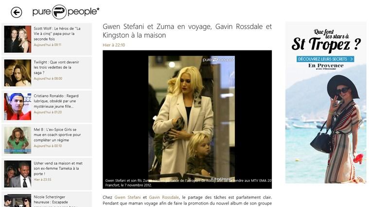 Purepeople - news people et actualités des stars capture d'écran 1