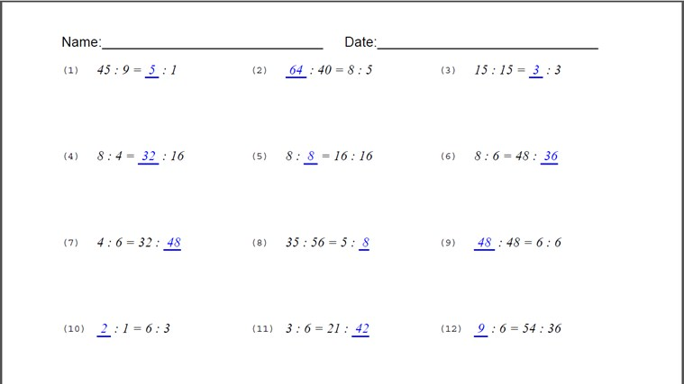 Printables Equivalent Ratios Worksheet equivalent ratios worksheets abitlikethis which will present two sets of for