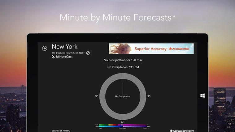 AccuWeather for Windows 8 screen shot 1