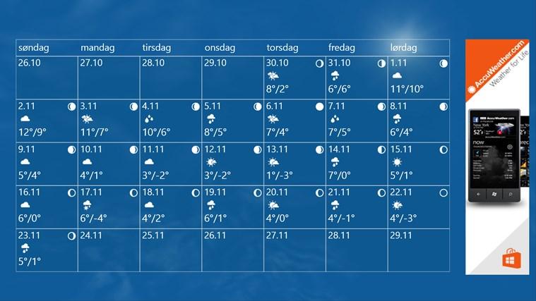 AccuWeather for Windows 8 skjermbilde 1