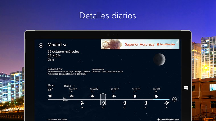 AccuWeather for Windows 8 captura de pantalla 1