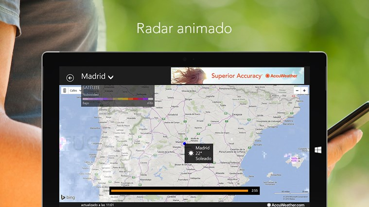 AccuWeather for Windows 8 captura de pantalla 3