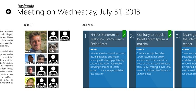 BOARD MEETING screen shot 3