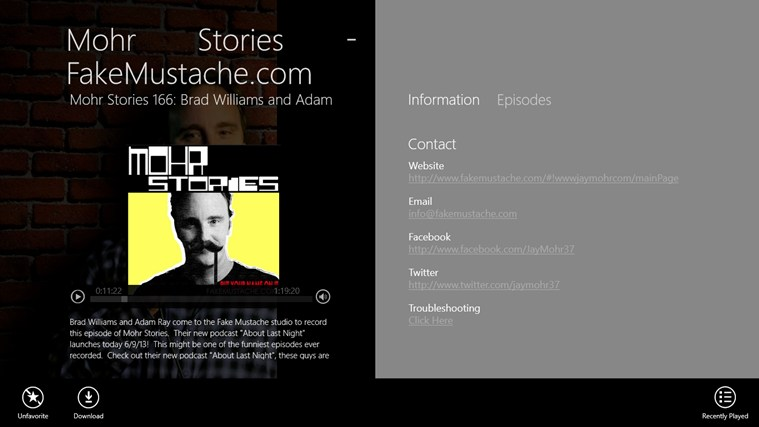 Mohr Stories - FakeMustache.com screen shot 1