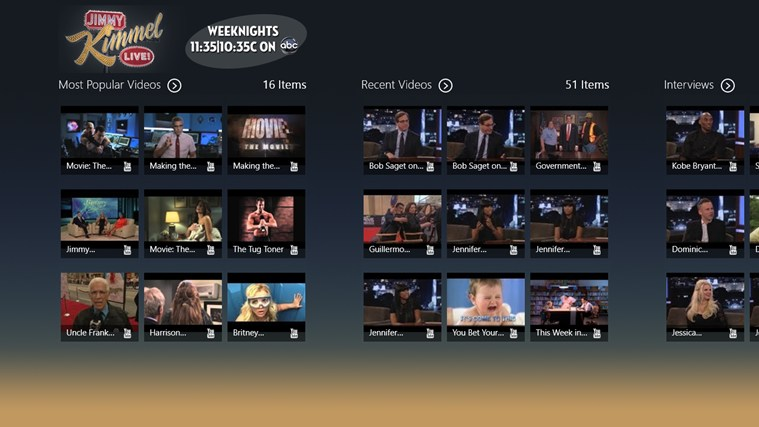 Jimmy Kimmel Live - The Official JKL App screen shot 1