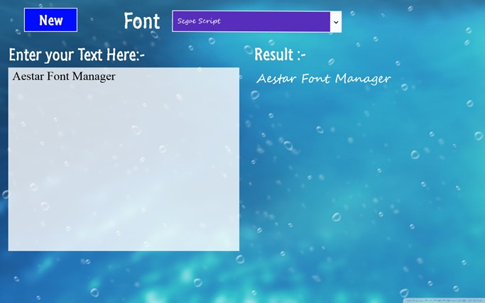 Aestar Font Manager screenshot 1