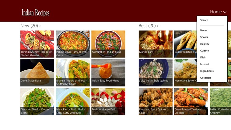 Indian Recipe Screenshot 1