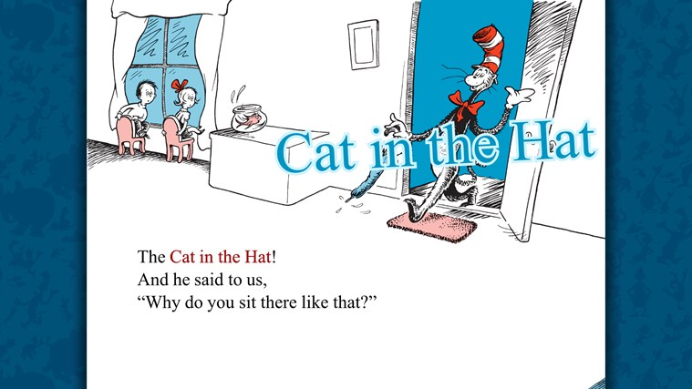 The Cat in the Hat - Dr. Seuss screen shot 1
