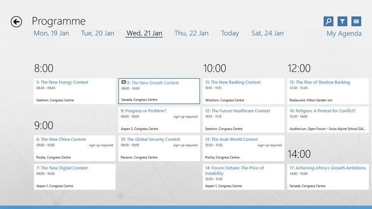 World Economic Forum Toplink Events screen shot 1