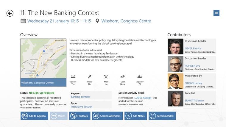 World Economic Forum Toplink Events screen shot 3