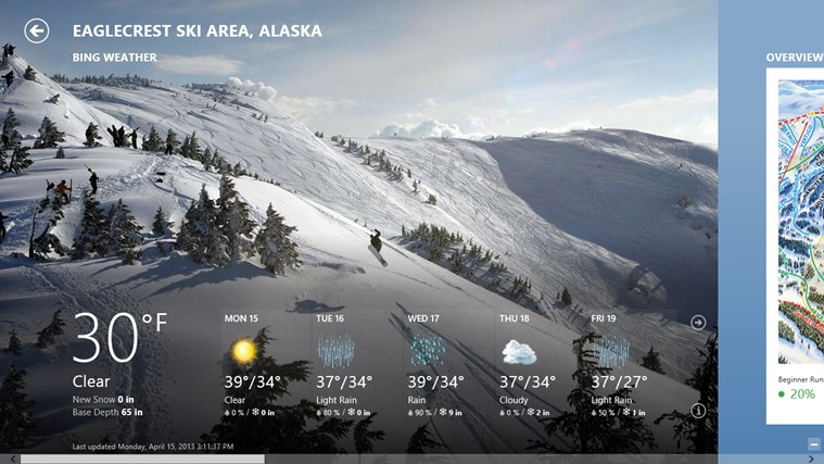 Bing Weather screen shot 3