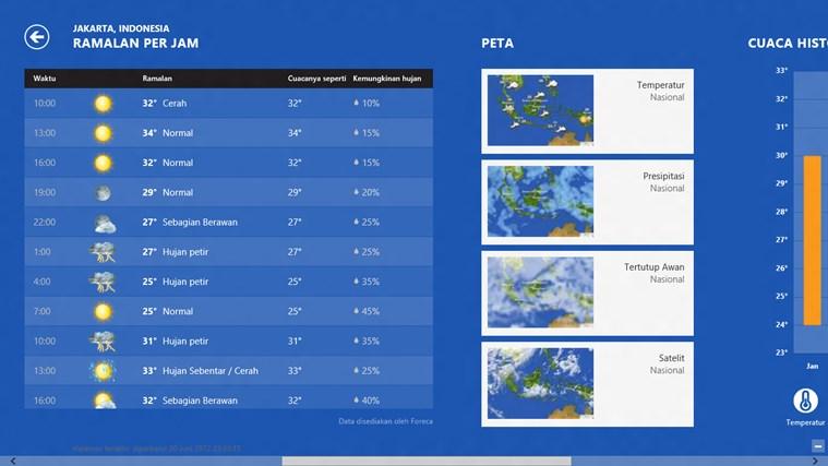 Bing Weather screenshot 1
