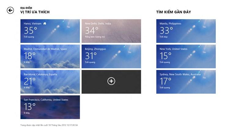 Bing Weather ảnh chụp màn hình 3