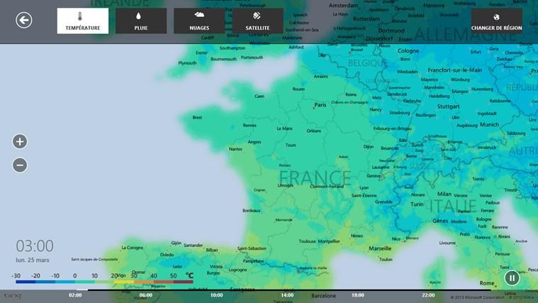 Bing Weather capture d'écran 5