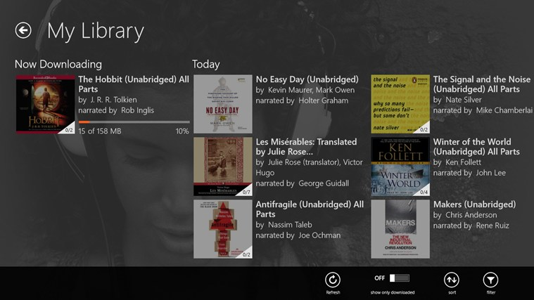 Audible - Audiobooks and more screen shot 1