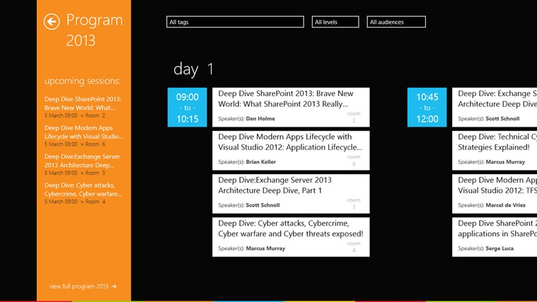 Microsoft TechDays Belux 2013 schermafbeelding 3