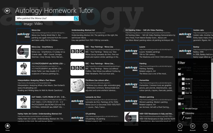 Autology - Homework Tutor screen shot 1
