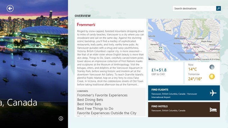 MSN Travel screen shot 1