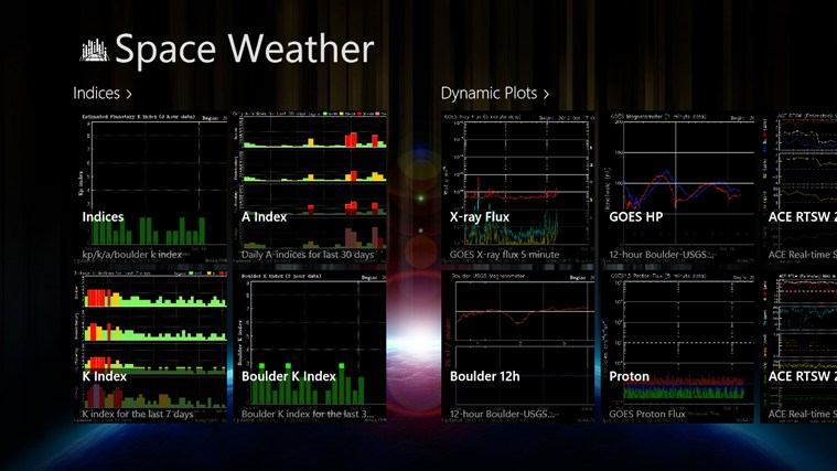 Space Weather screen shot 1