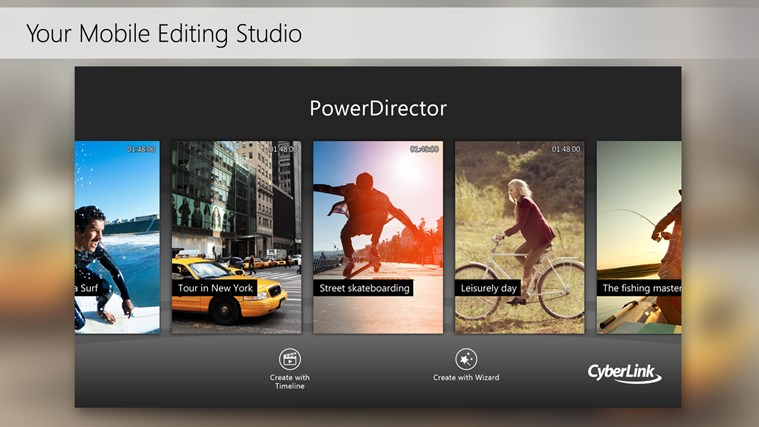 PowerDirector Mobile Video Editor – Bundled screen shot 1