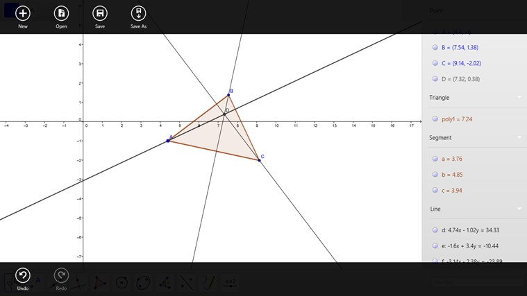 GeoGebra screen shot 1