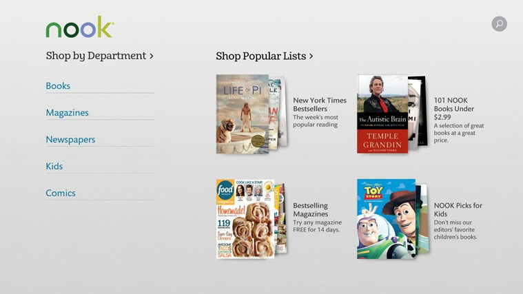 NOOK – Books, Magazines, Newspapers, Comics app for Windows in the ...