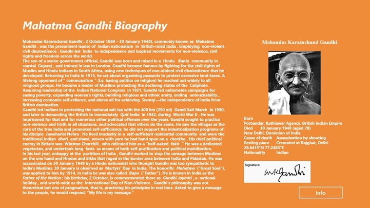 the autobiography of mahatma gandhi The story of my experiments with truth is the autobiography of mohandas k gandhi, covering his life from early childhood through to 1921 it was written in weekly instalments and published in his journal navjivan from 1925 to 1929 its english translation also appeared in installments in his other journal young india.