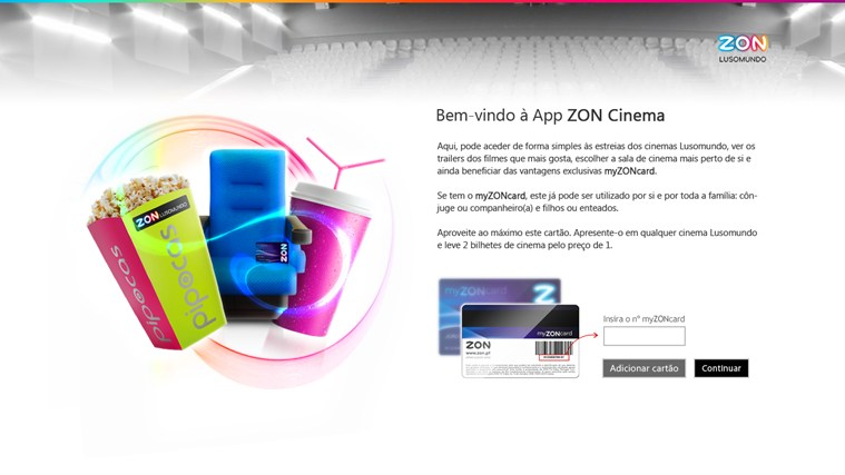 ZON Cinemas captura de ecrã 1
