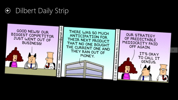 Dilbert screen shot 1