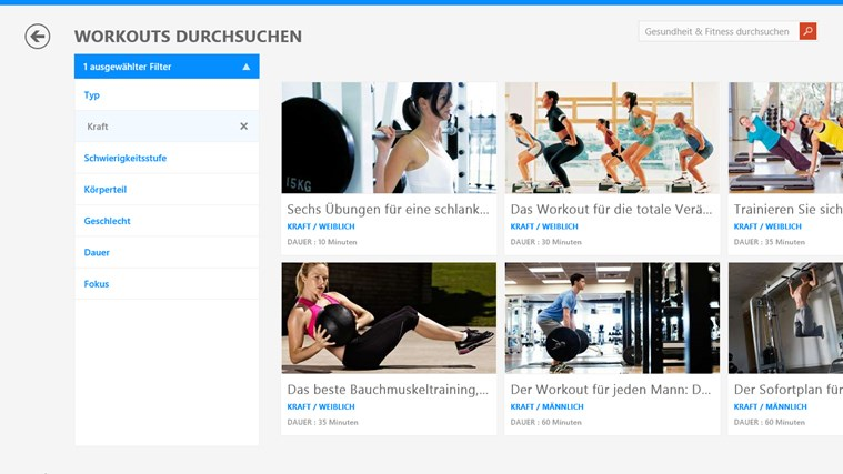 MSN Gesundheit & Fitness Screenshot 1