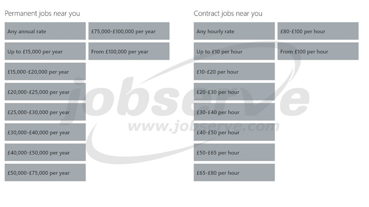 JobServe screen shot 1