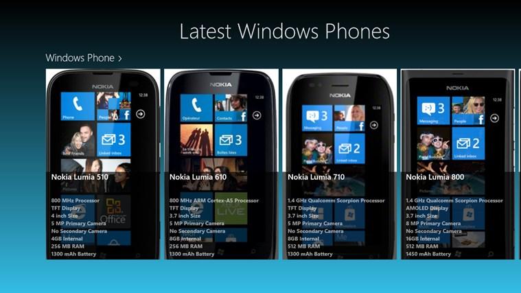 Latest Windows Phones screen shot 1