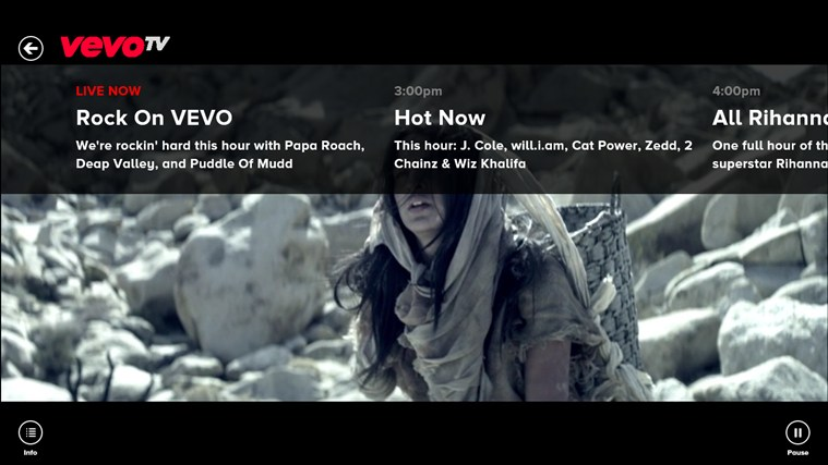 VEVO screen shot 1