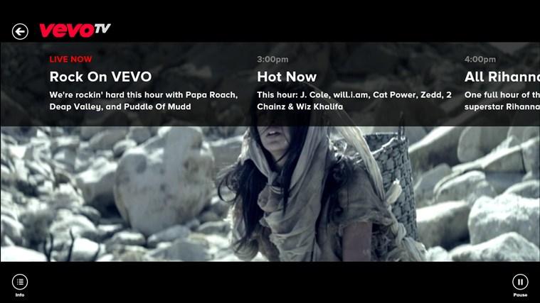 VEVO screen shot 1