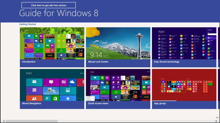 Guide for Windows 8.0 screen shot 1